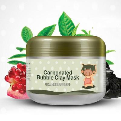 Пузырьковая маска для лица с активированным углем и экстрактом граната