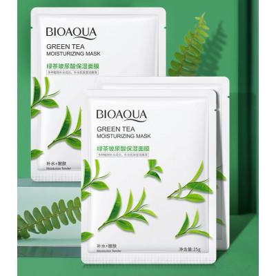 Увлажняющая маска для лица BIOAQUA с экстрактом зеленого чая и гиалуроновой кислотой