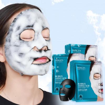 Пузырьковая тканевая маска для лица BUBBLES AMINO ACID с аминокислотами и бамбуком